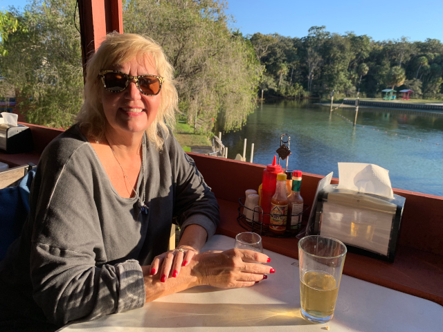 View of Weeki Wachee River from Upper Deck Restaurant