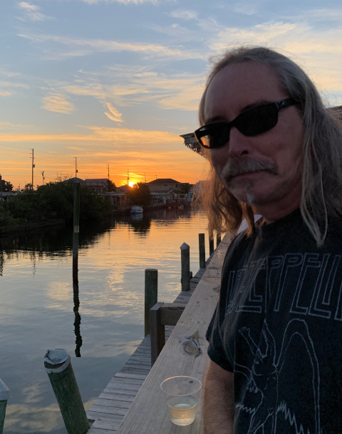 S with sunset over canal at Hudson Beach Fl