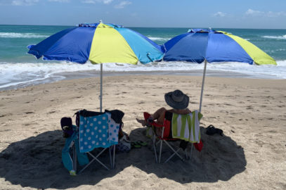 Beach umbrellas at Blind Creek Beach Florida