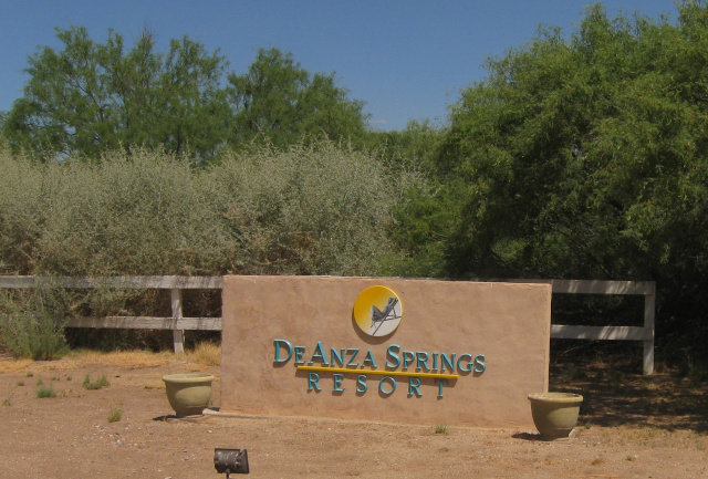 Sign at Deanza Springs resort