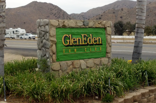 Glen Eden nudist resort sign