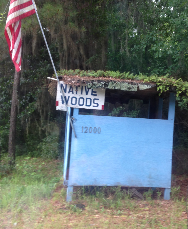 Native Woods naturist park sign