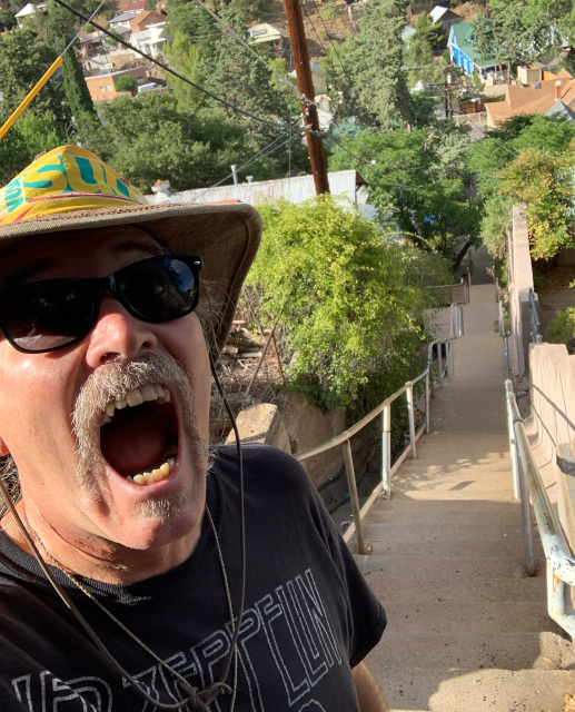 Scott at top of Bisbee1000 stairs